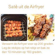 Saté uit de Airfryer. 10 minuten op 160 graden.   AK