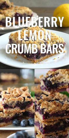 Blueberry Crumb Bars, Blueberry Desserts, Cheesecake Desserts, Blueberry Farm, Easy No Bake Desserts, Delicious Desserts, Dessert Recipes, Yummy Food, Bar Recipes