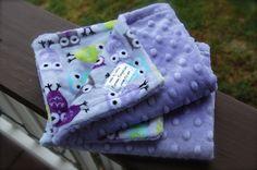 Owl Minky Security Blanket by EiermanEmporium on Etsy