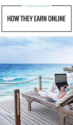 Internet Business System Today Earn Money - Have you ever considered taking your job on the road with you? In this post 7 full time travellers explain how they earn money online Make Money Blogging, Make Money From Home, Way To Make Money, Blogging Ideas, Earn Money Online, Online Jobs, Home Office, Work Travel, Fun Travel