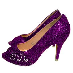 Women s Plum Purple i do Peep Toe Heels. 300+ Colors to choose from! Glitter  Shoe Co 502f1ab1ac0a