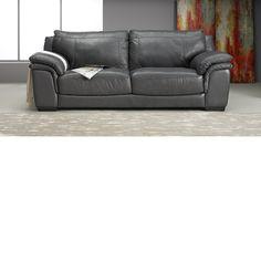 The Dump Furniture   Graphite Leather Sofa