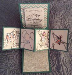 Pop and Twist Panel Card