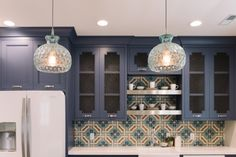 I do 't think I like the Navy Blue here, cream might be better. But I LOVE the tiles.