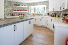 The Scott brothers are back with another stunning renovation! This time, they're transforming dated kitchens into modern showpieces, with HGTV's Cousins on hand to pick a winner. Take a tour now. Victoria House, Custom Headboard, Kitchen Photos, Kitchen Ideas, Jonathan Scott, Vintage Mirrors, Modern Vanity, Room Pictures, Beautiful Kitchens