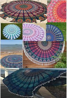 "Indian Roundie Mandala Tapestry Beach Towel Throw Yoga Mat 72"" MANY CHOICE #Unbranded #ArtDecoStyle"