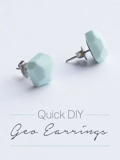 Quick DIY – Geo Earrings (from polymer clay.)