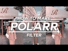 💫 how to make polarr filters #7 - YouTube