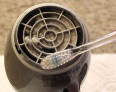 Make sure you're cleaning out your hair dryer regularly to maintain its performance. | Hair Drying Hacks