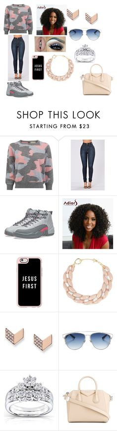 """""""Gratefull"""" by leelee-the ❤ liked on Polyvore featuring NIKE, Casetify, DIANA BROUSSARD, FOSSIL, Christian Dior, Kobelli and Givenchy"""