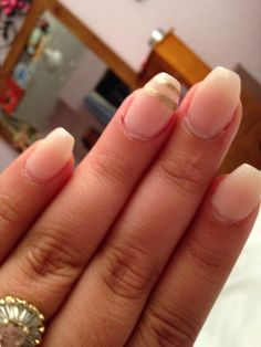 Short pink Coffin nails with design