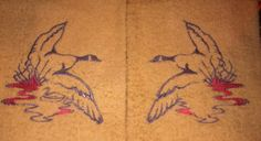 Nature calls embroidered hand towel sets with by TheHappyvibe, $18.00