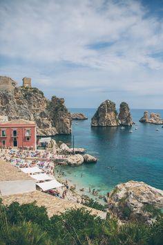 Tonnara di Scopello, Sicily - The Londoner Places To Travel, Places To See, Travel Destinations, Mykonos, Santorini, Dream Vacations, Vacation Spots, Sicily Travel, Elba