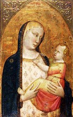 Workshop of Bernardo Daddi (Medieval Italian artist, 1345-1349) Madonna and Child