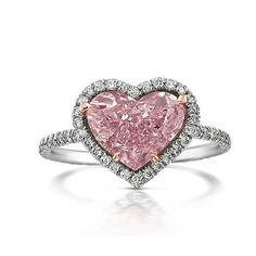 FANCY PINK DIAMOND RING <3