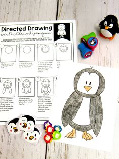 Learn how to draw a penguin, polar bear, or a cup of hot cocoa with these fun and engaging directed drawings!