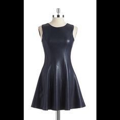 Love Ady Faux Leather Princess Seam Dress Love Ady Faux Leather Princess Seam Dress, took tags off, never once worn! Beautiful cute flowing dress!! Anthropologie Dresses Mini