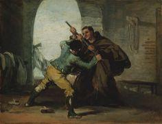 Museo del Arte: Captura del Maragato por fray Pedro de Zaldivia / Francisco de Goya y Lucientes