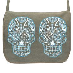 Sugar Skulls Messenger - Sugar Skulls Messenger - Spooky Fashion Love : Skulls ♥ - StorybookApothecary.com #style #women #clothing #shoes #accessories #october #halloween #fall #winter #sugarskulls