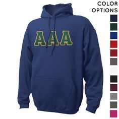 Pick Your Colors Sewn On Letter Hoodie