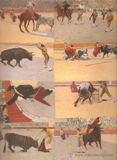 estampas taurinas | coleccion de ocho antiguas postales taurinas. ediciones victoria. n ...