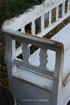 I love old worn out benches - Wooden Hungarian Bench ♥