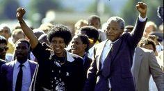Nelson Mandela released from prison 11 Feb 1990