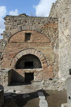 Preserved bread oven in a bakery