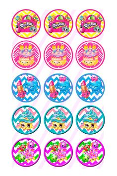 1 Bottle Cap Images Shopkins Inspired by AllThingsCraftSupply Bottle Cap Art, Bottle Cap Crafts, Bottle Top, Bottle Cap Images, Free Bottlecap Images, Shopkins Bday, Kids Cards, Patch, Party Themes
