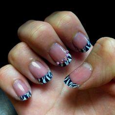 Did this tonight using the Konad nail art kit!