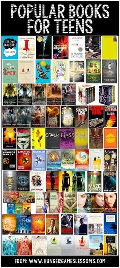 Popular books for teens on www.hungergameslessons.com
