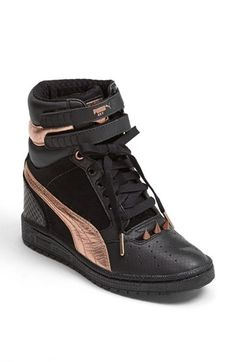 PUMA 'Sky Wedge Rosegold' Sneaker (Women) available at #Nordstrom