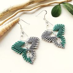 A personal favorite from my Etsy shop https://www.etsy.com/listing/557013972/sterling-silver-macrame-earrings-diy