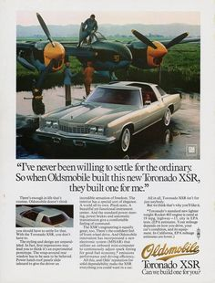 Publicité Oldsmobile Toronado XRS - source Collectible Automobile Magazine.