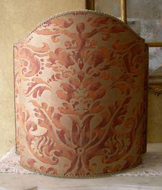 Half Lamp Shade Fortuny Fabric Rust & Gold by OggettiVeneziani, €149.00