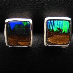 Each opal is unique. Like a snowflake or a fingerprint, no two are the same... #opals #opal #melbourne #madeinmelbourne #flinderslane #jewellery #queensland #boulderopal #bling #australia #inspiration #lightningridgeopalmines #silver #beautiful #earrings