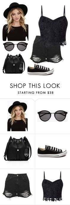 """""""Untitled #23"""" by neusrubert ❤ liked on Polyvore featuring RHYTHM, Yves Saint Laurent, MICHAEL Michael Kors, Converse, Topshop and Lipsy"""