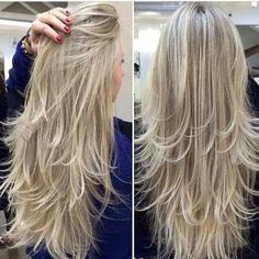 71 most popular ideas for blonde ombre hair color - Hairstyles Trends Long Layered Haircuts, Haircuts For Long Hair, Long Hair Cuts, Long Hair Styles, Fast Hairstyles, Balayage Hair Blonde, Blonde Ombre, Hair Shades, Pinterest Hair