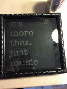 Shadow box for concert tickets. Slit cut in top to insert tics