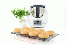 integral was my flour combo. Kitchen Recipes, Baking Recipes, Healthy Recipes, Healthy Food, Pan Burgers, Burger Buns, Thermomix Bread, A Food, Food And Drink