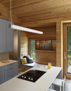 Kitchen Stealth Cabin A Fine Blend of Traditional and Modern: Stealth Cabin by Superkül Inc Architect