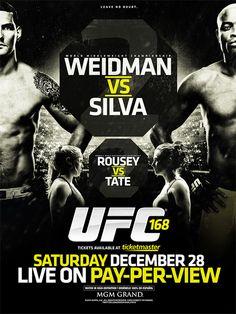 UFC 168: WEIDMAN vs. SILVA II by Ross Finkelstein, via Behance