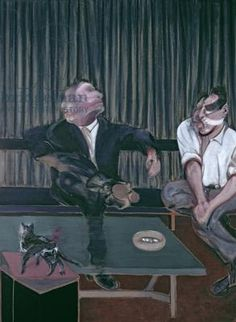Portrait of George Dyer and Lucian Freud, oil painting,1967 | Francis Bacon