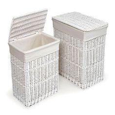 Badger Basket - 2-Hamper Set, White