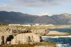 View from the New harbour to the mountains, Hermanus - Marine Drive 45 Marine, Windsor Hotel and Esplanade