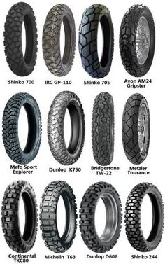 Dual sport tire options