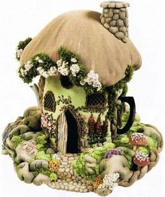 Stump work tea cozy