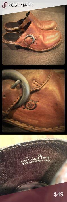 Born Clogs Brown leather born shoes Size 7 Born Shoes Mules & Clogs