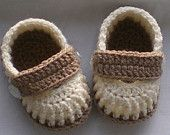 Crochet baby shoes loafers for newborn, 0 to 3 months or 3 to 6 months CHOOSE you SIZE and COLOUR. $12.50, via Etsy.