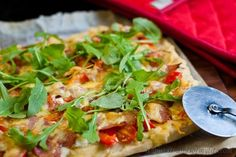 Bacon & Feta Pizza from Strands of my Life - low FODMAP recipe